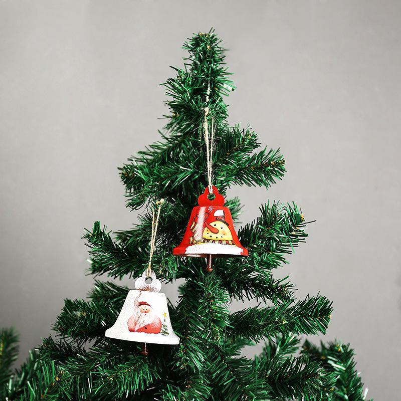 christmas decoration santa small bell christmas tree ornament hemp rope adornment small bells for 10 peices festival gifts christmas outdoor decorations on - Christmas Tree Bell Decoration