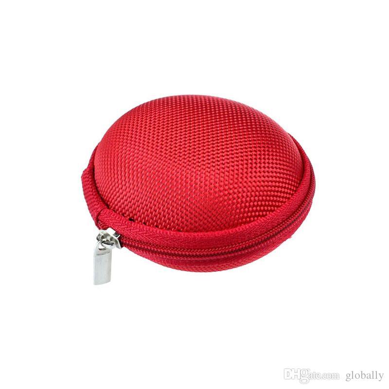 Portable Case für Kopfhörer Fall Mini mit Reißverschluss runde Speicher Hard Bag Headset Box für Kopfhörer Case SD TF Karten Kopfhörer Tasche versandkostenfrei