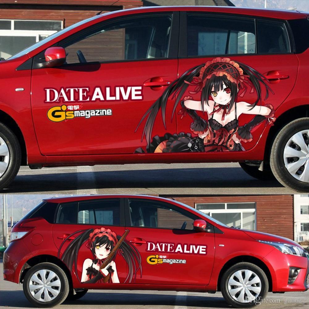 New Hot Anime Car Stickers Anime Stickers Tokisaki Kurumi - Car anime stickers
