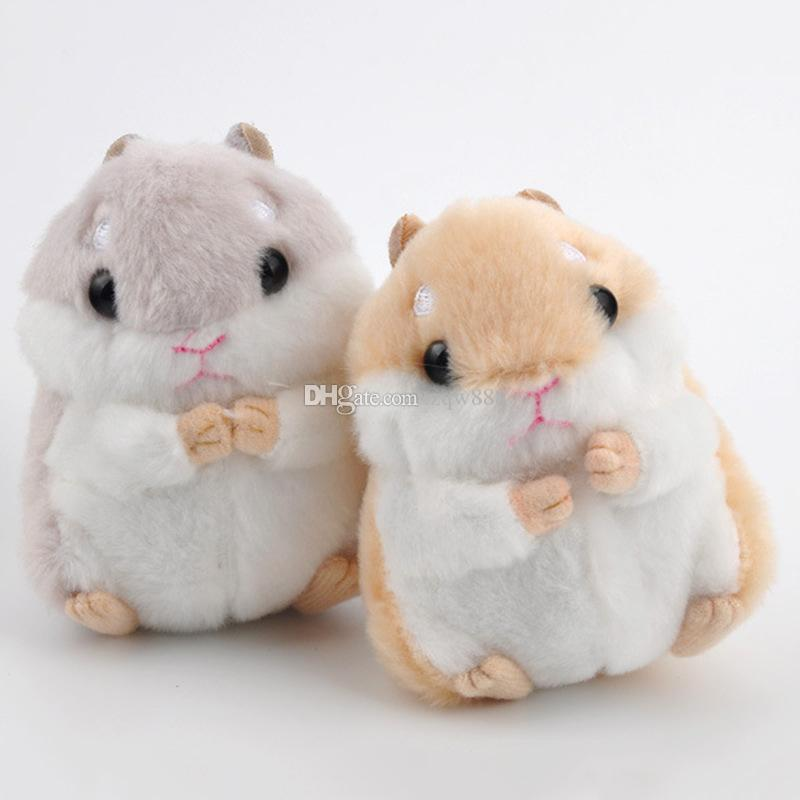 """Special Cute 4"""" 10cm Hamster Keychain Plush Doll Stuffed Animals Toy Pendant For Child Best Gifts"""