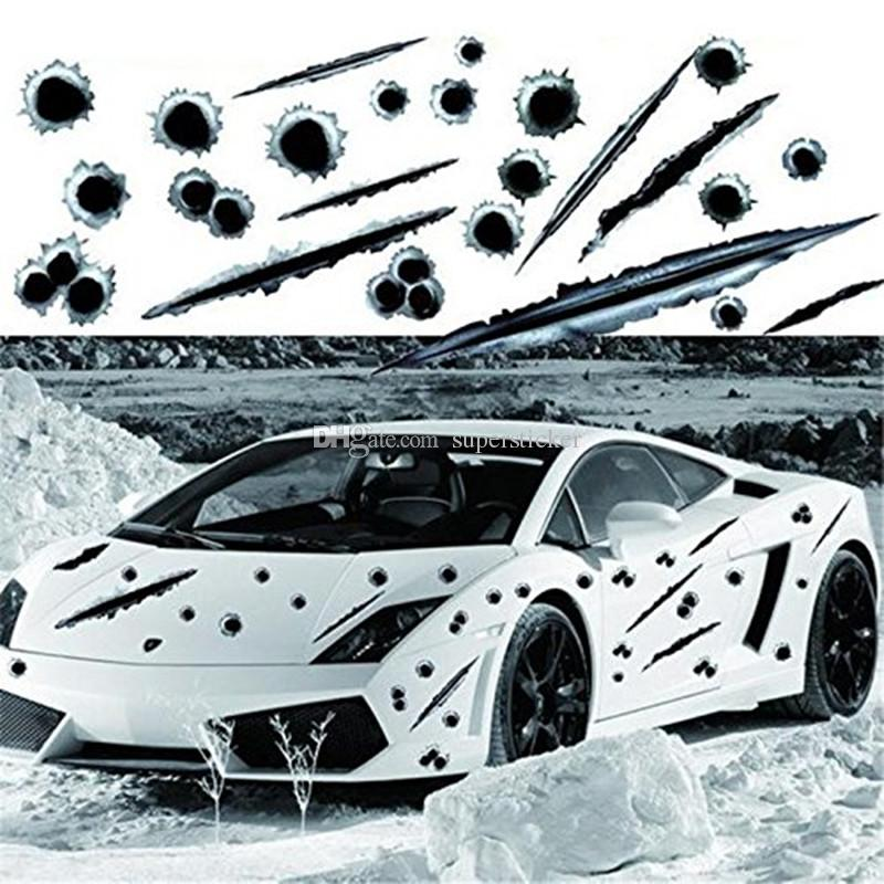 Amazing Car Decals Stickers Bullet Holes D Fade Funny Sticker Car - Vehicle decals and stickers