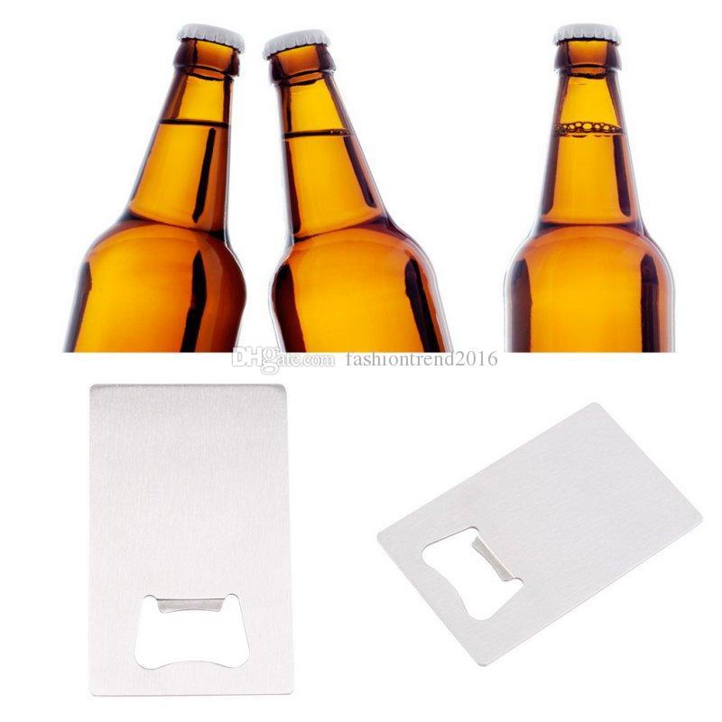 Bier Flaschenöffner Kreditkarte geformt Edelstahl Öffner für Weinflaschenverschluss