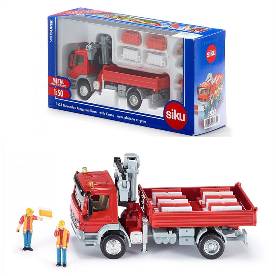 2019 siku 1 50 scale diecast toy car model toy car benz with crane
