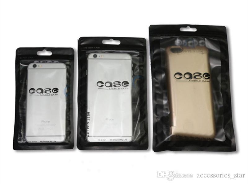2019 Black Plastic Ziplock Bag For Mobile Phone Case Packaging Zip