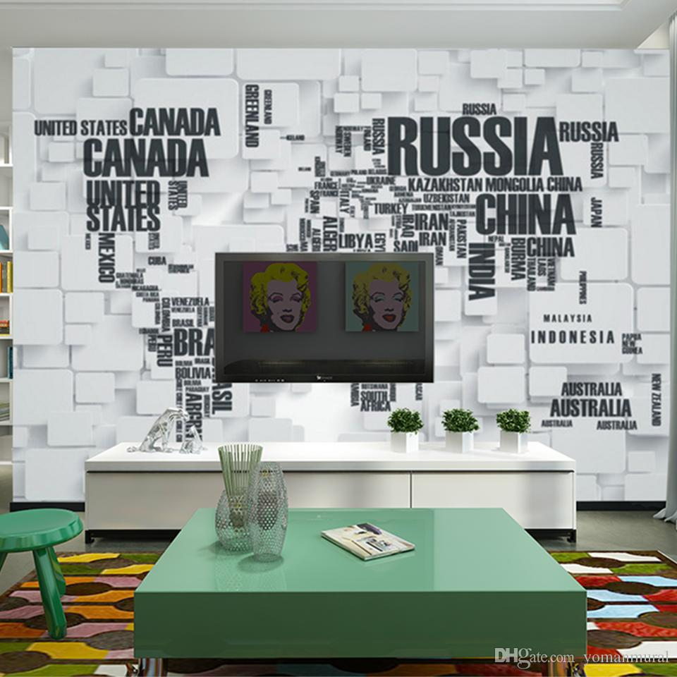 3d European Living Room Wallpaper Bedroom Sofa Tv Backgroumd Of