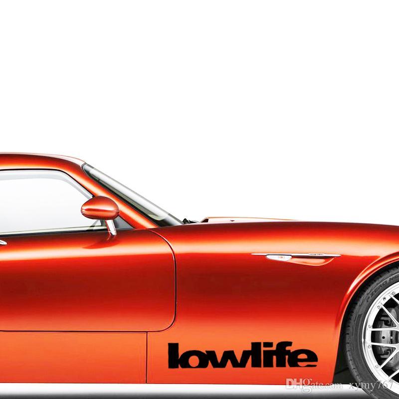 Nuevo producto para la etiqueta engomada de Lowlife Calcomanía troquelada Auto adhesivo Car Styling Postura de vinilo Jdm Accesorios para automóviles Decorar
