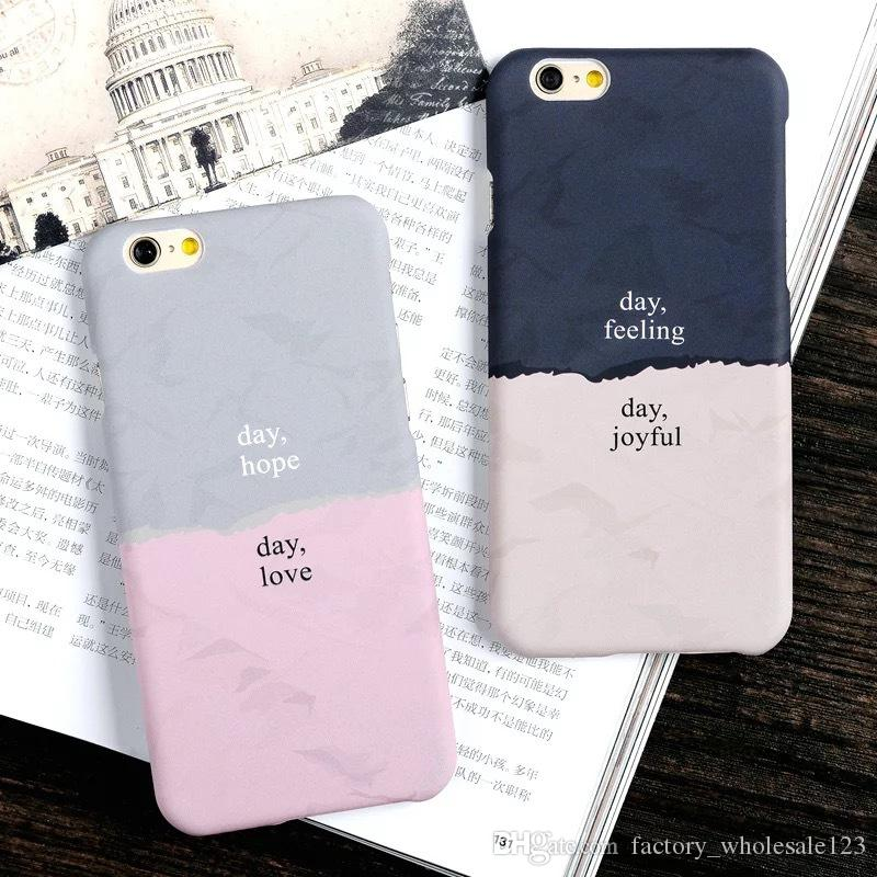 size 40 17e2f 6ade5 For iphone 7 7 plus case matte hard pc back cover cases for iphone 6 6s  plus 5 5s couple cell phone shell protection frame