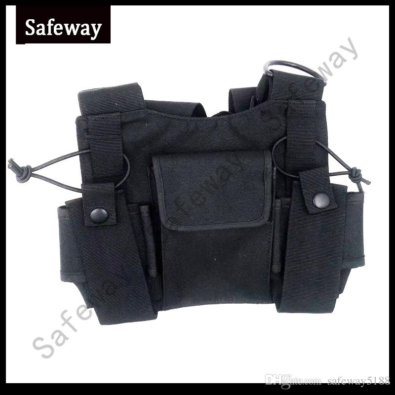 2019 New Nylon Two way radio pouch Chest Pack Pocket walkie talkie bag Holder Carry Case for Motorola CP040 For baofeng UV-5R
