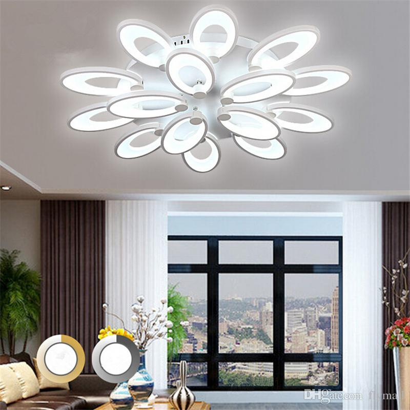 Modern Petals Led Ceiling Light Home Living Room Bedroom Lighting Fixture Dimmable Acrylic LED Ceiling Lamp Flower Blooming Ceiling Light