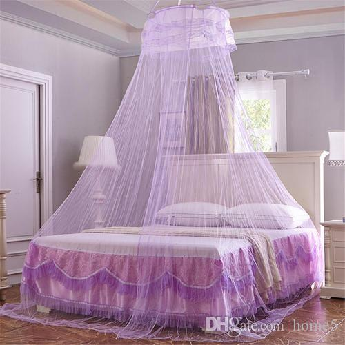 Universal Elegant Round Lace Insect Bed Canopy Netting