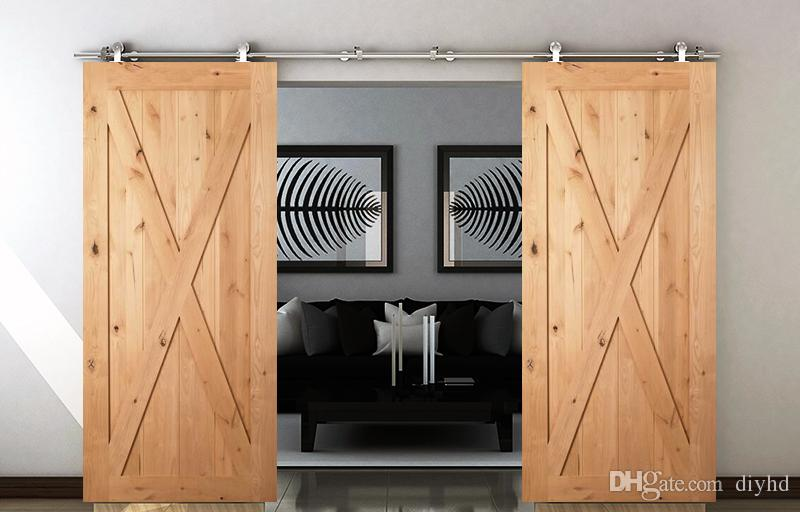 2018 Stainless Steel Top Mounted Classic Sliding Wood Barn Door Hardware  With Safety Locking Top Mount Wheel From Diyhd, $119.6 | Dhgate.Com