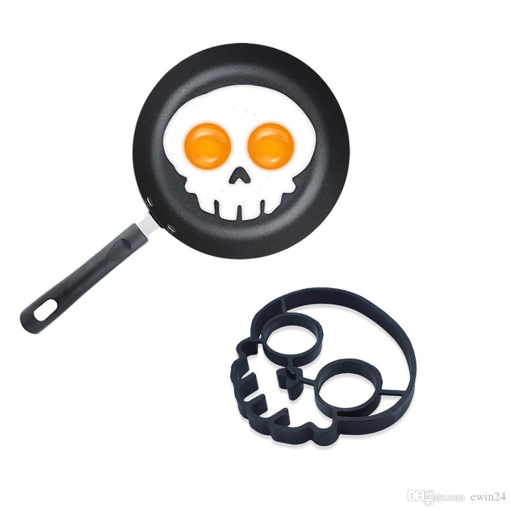 silicone ideale del gufo del cranio uovo fritto muffa della muffa dell'anello dello shaper dell'anello che cucina aiuto caldo Trasporto libero