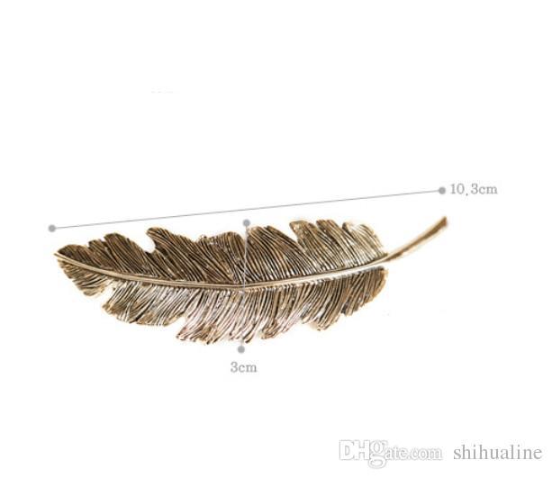 Tüy saç tokası Kore versiyonu yaprakları retro süsler saç süsler headdress