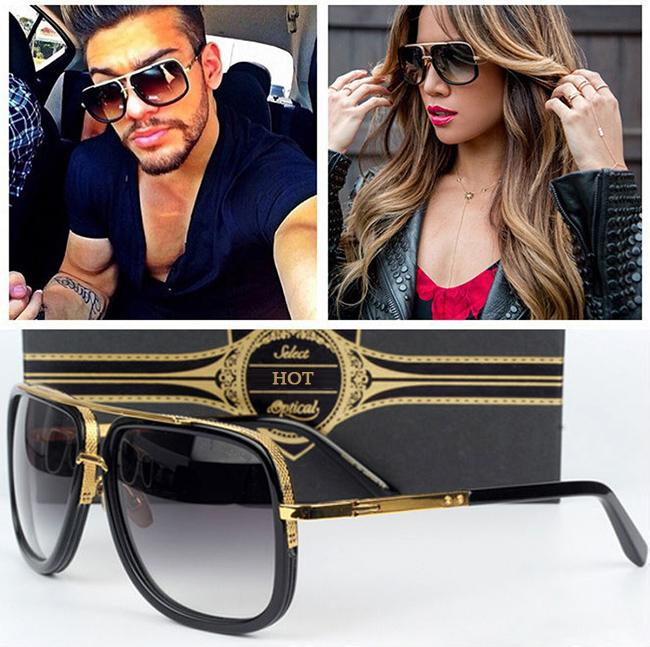3e1161d44d5b9 Compre Al Por Mayor Alta Calidad De Lujo Lente Gradiente Gafas De Sol  Hombres Mujeres Diseñador De La Marca Gafas De Sol Para Hombres Mujeres  Oculos De Sol ...