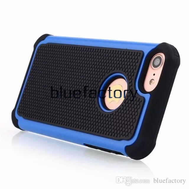 Heave Duty Hybrid Hard Plastic Soft Silicone Dual Protector Shockproof 3 in 1 Football Grain Case Cover for iphone 7 6S For HTC M9 M10