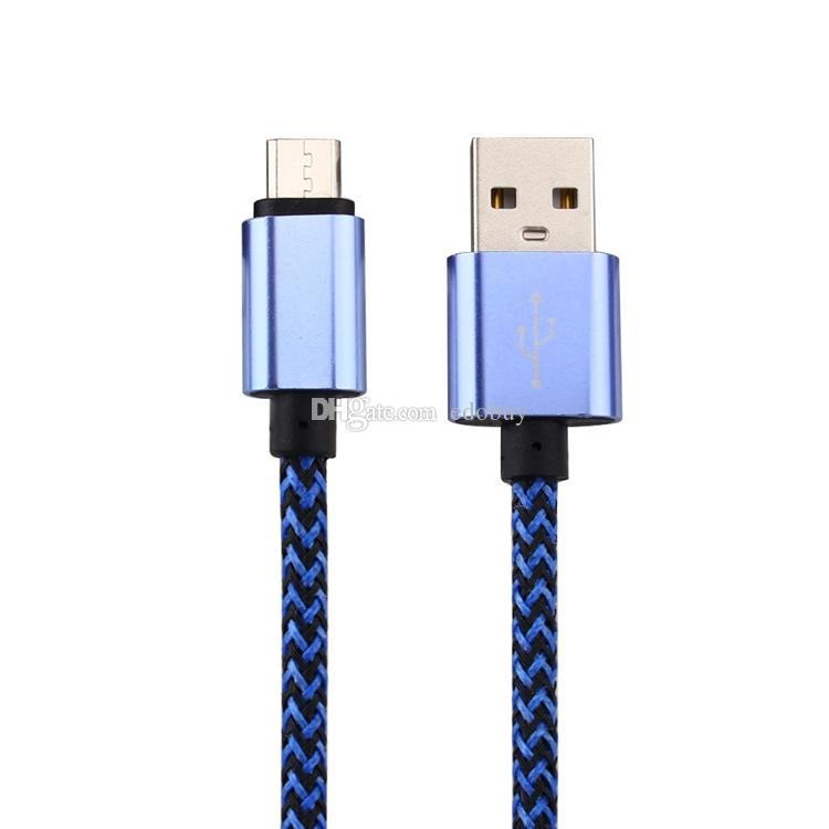 20cm 1m 2m 3m metal Alloy Micro USB Data Sync Charger Cable Cord For Samsung for LG Cell Phone 2016