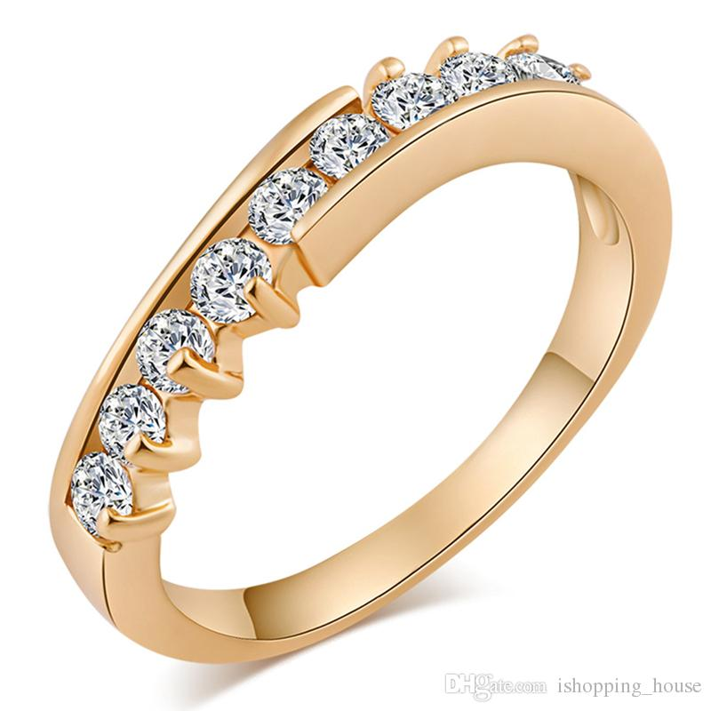 Simple Design Classic Ring For Women Wedding Jewelry 18k Yellow ...