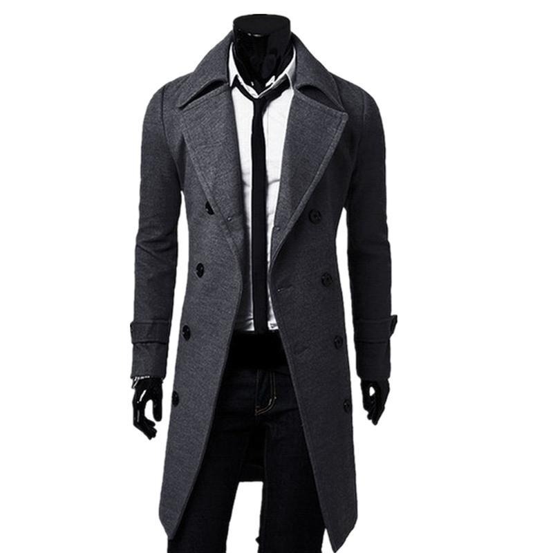 43781b83a26d8 Cheap Men s Single Breasted Wool Pea Coat Best Mens Winter Cloth Jacket