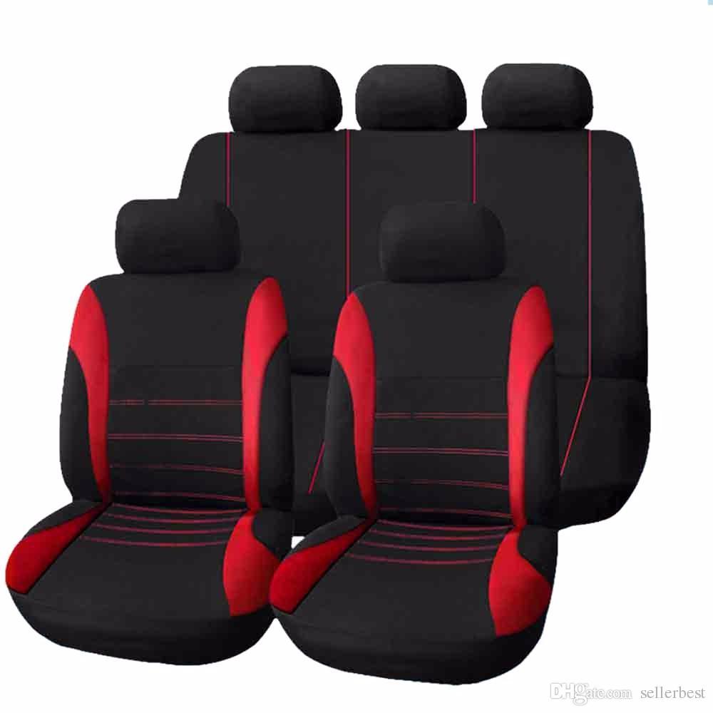 2 X Reposacabezas Cubiertas Protectoras Auto-Rojo