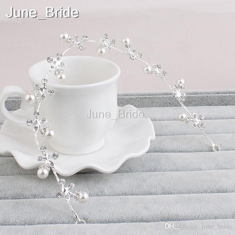 Flexible Crystal Pearl Rhinestone Wedding Bridal Headband Handmade Bridal Hat Special Occasion Hair Accessory Headwear High Quality