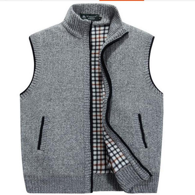 2018 Vxo Men Cardigan Sweater Men Cardigan Vests Wool Vest Knitted ...