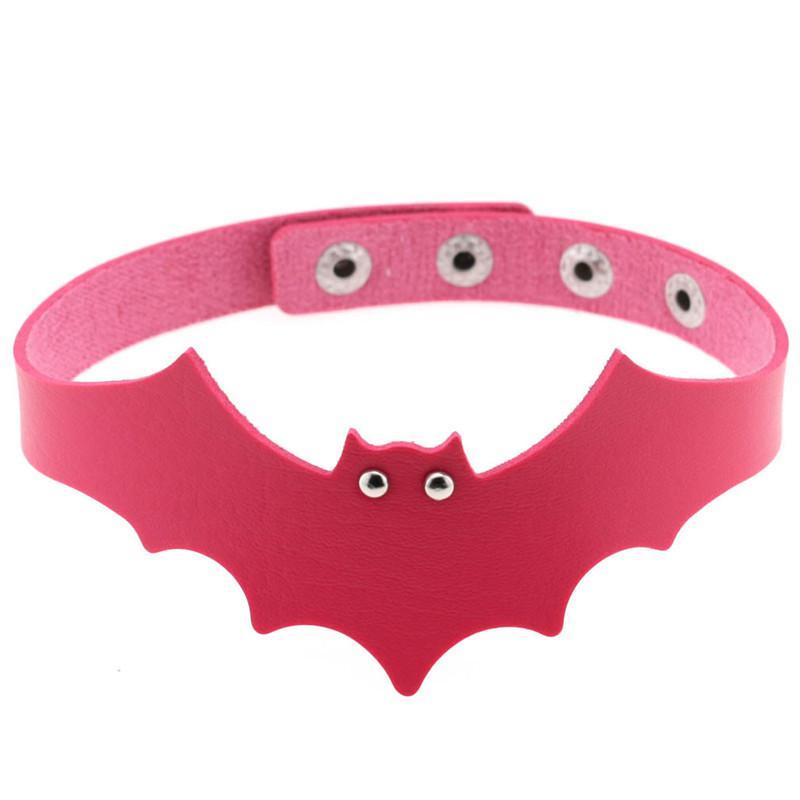Neue Mode Sexy Harajuku Handgemachte PU-Leder Bat Harness Halskette Rockkragen Punk Goth Choker Halskette Drehmomente Morques Chocker Geschenk