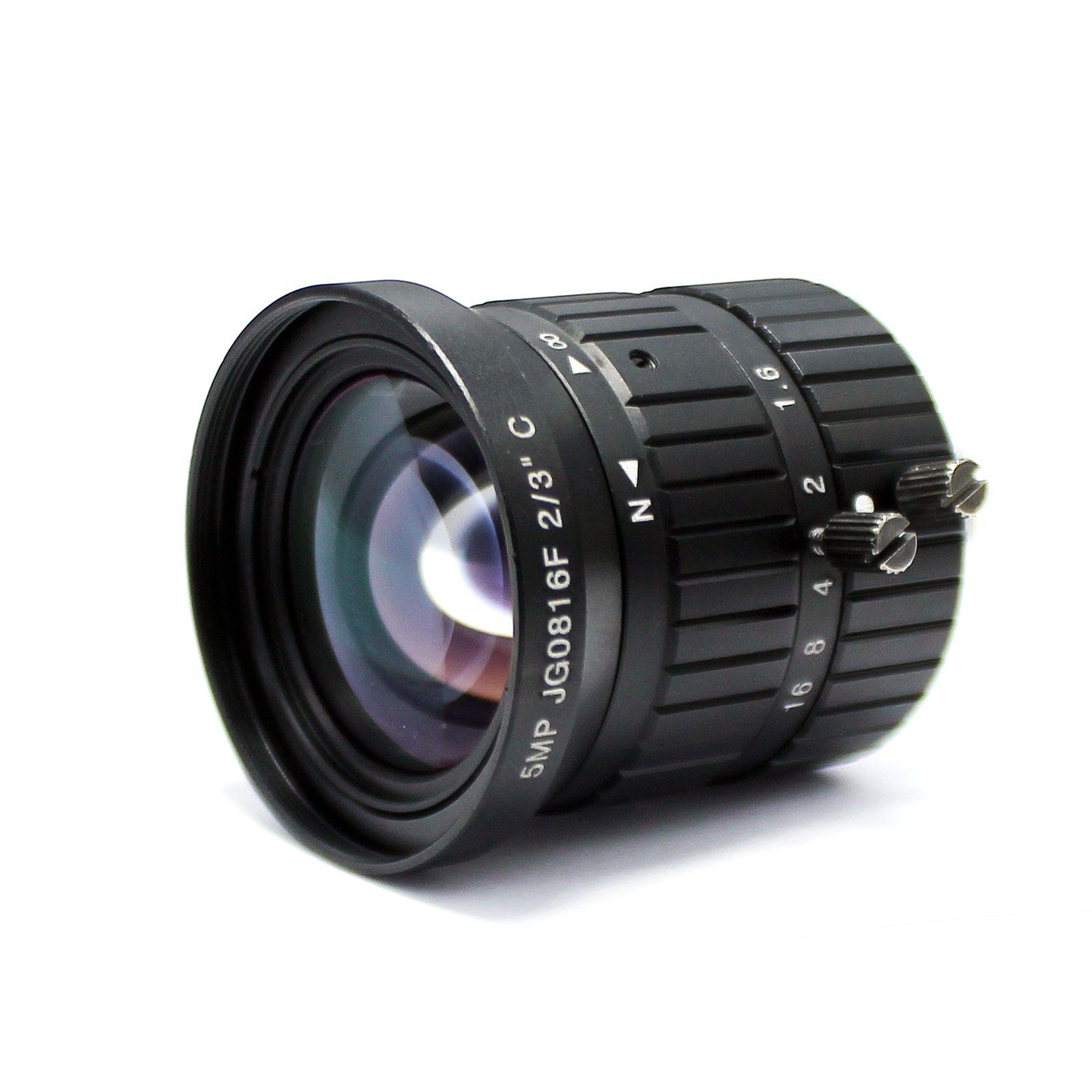 "5MP 8mm C mount lens 2/3"" 5.0 Megapixel Manual Fixed Lens Industrial lens For cctv ip camera box"