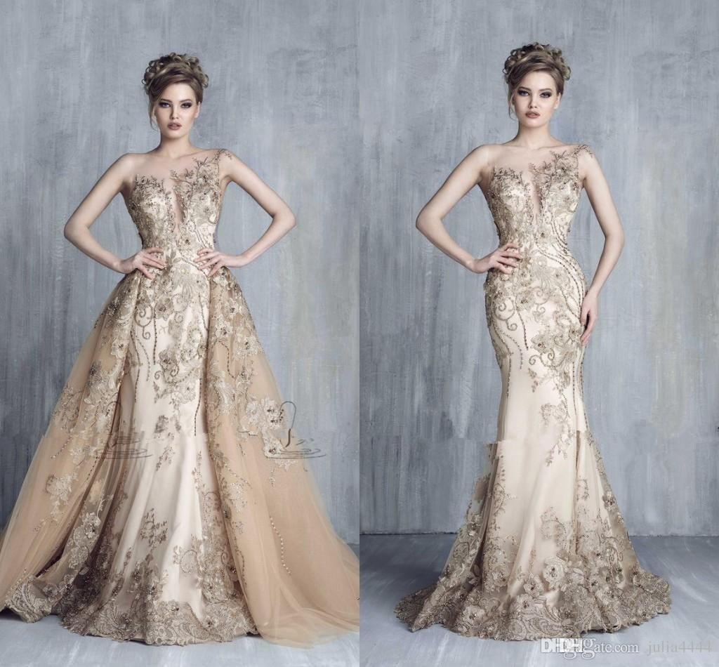 Champagne and Gold Evening Dresses