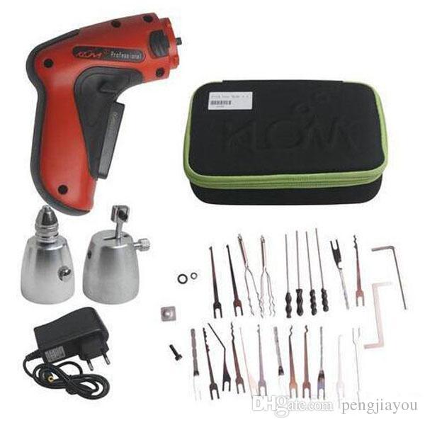 KLOM Cordless Electric Lock Pick Gun Auto Pick Guns Lockpicking herramientas de cerrajería