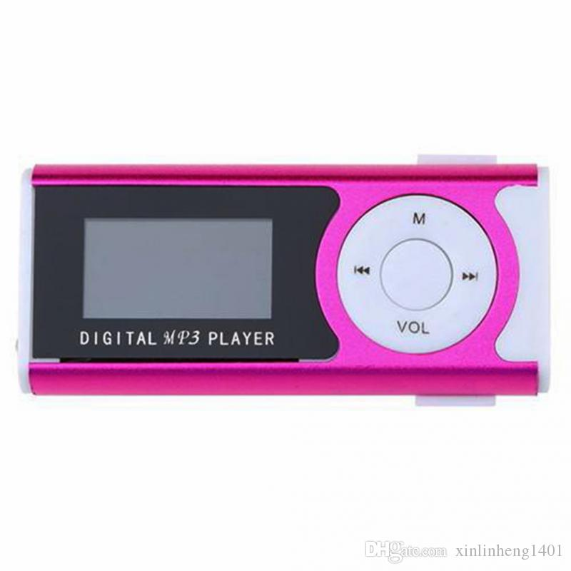 Bestsin Mini Mp3 Player with LCD Screen built in speaker music Support 2GB 4GB 8GB 16GB 32GB TF Card MP3 Player