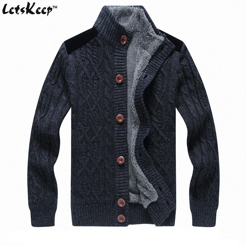 2018 New Letskeep 2016 Mens Fleece Cardigan Sweaters Casual ...