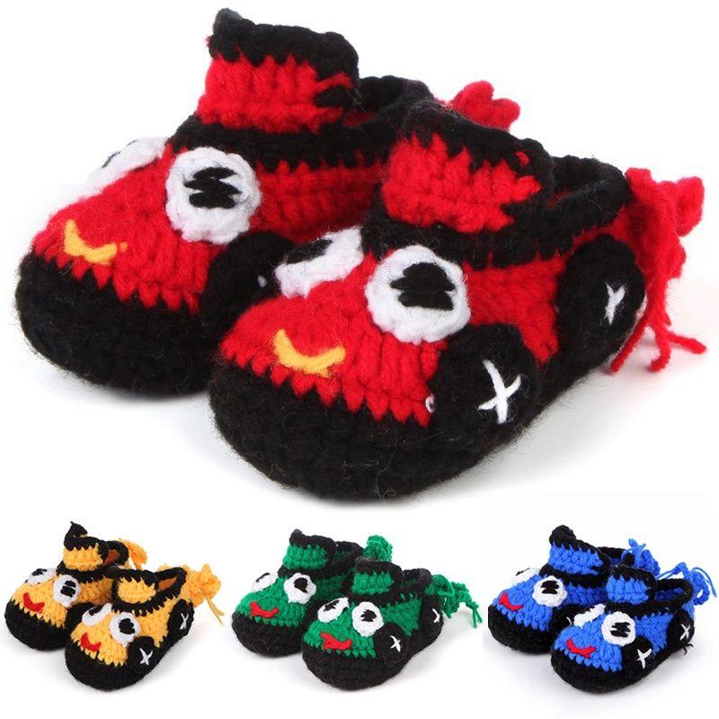Best Trendy Baby Knitted Shoes Cartoon Car Pattern Newborn Crib