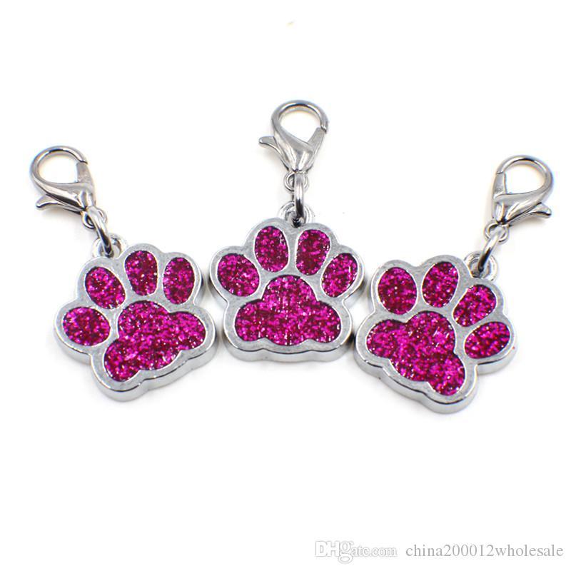 50 adet HC358-1 Bling Emaye Kedi Köpek / Ayı Pençe Baskılar Dönen Istakoz Toka Dangle Charms Anahtarlık Anahtarlıklar Çanta Takı Yapımı