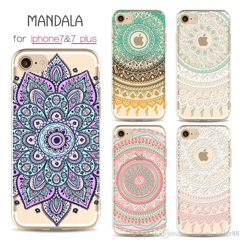 check out d4ebc 781d8 For iphone 7 plus Case Mandara Painting Cases Soft TPU Back Cover For  iphone 6 6s plus Samsung S8 Cellphone Shell Case Factory Free DHL 258