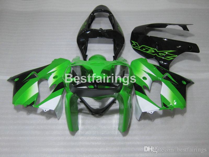 Kawasaki Ninja ZX9R için 02 ücretsiz hediyeler karoser kaporta kiti 02 03 yeşil siyah kaportalar set ZX9R 2002 2003 IU27