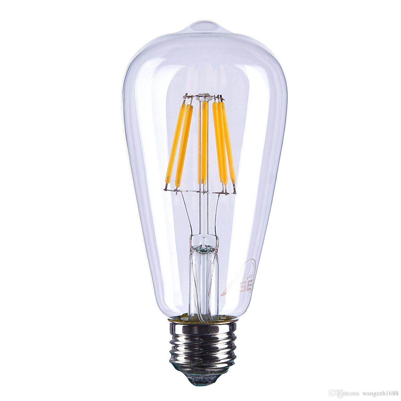 Captivating Meegan 8w Led Tungsten Light Bulb, 800lm, 80w Incandescent Equivalent,  220v, E27 E26 Base, 2700k Warm White, Clear Glass Cover Energy Efficient Light  Bulbs ... Good Ideas