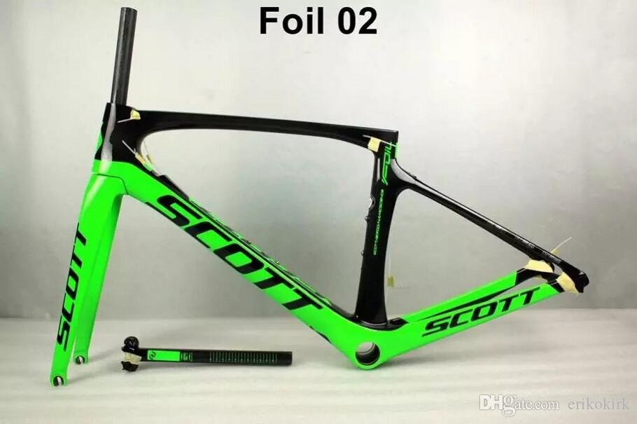 T1000 Foil Red Full carbon fiber road bike frameset carbon bike frame finish glossy/matte handlebar