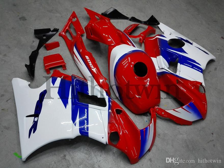Gifts red white ABS Fairings For honda CBR600F2 1991-1994 F2 91 92 93 94 Aftermarket Motorcycle