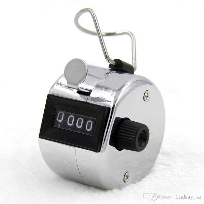 Digits Edelstahl Zähler Professionelle 4 Digit Hand Tally Counter Manuelle Palm Clicker Anzahl Counting Golf