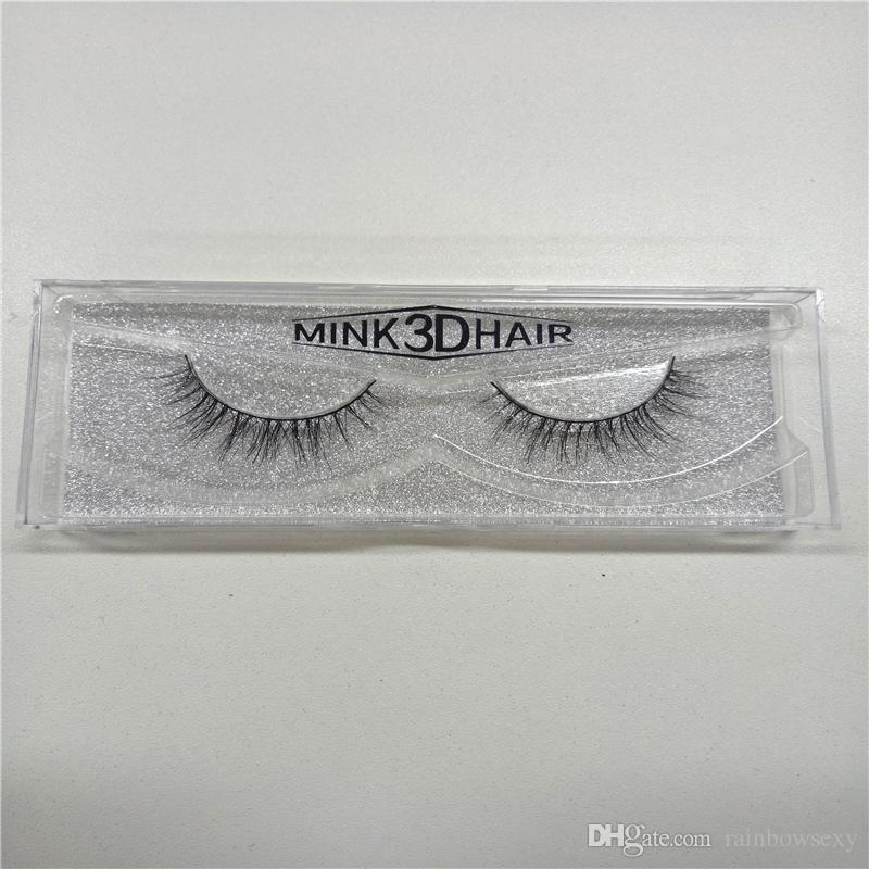 Cheap Fashion Natural Eye Lashes Makeup Handmade Thick Fake Eyelashes Beauty False Eye lashes 100% Real Siberian 3D Mink Strip Lashes
