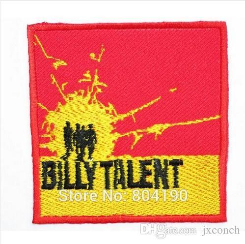 BILLY TALENT 음악 록 포스트 하드 코어 밴드 로고 자수 된 IRON ON 패치 어플리 캡 모자 중금속