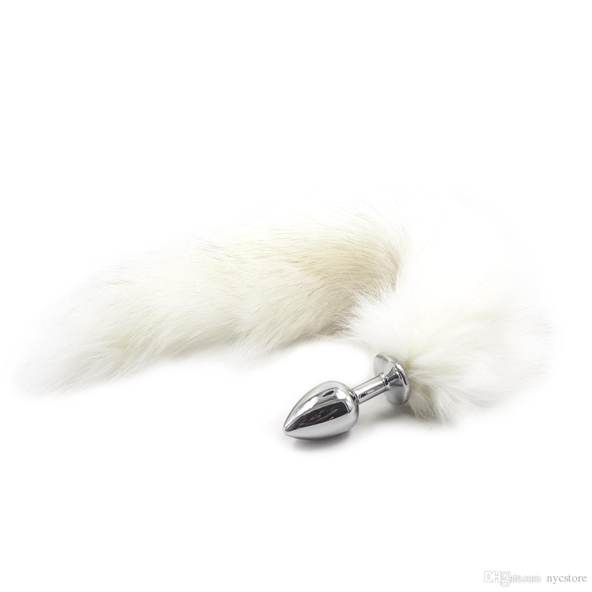 Анальный крюк БДСМ секс металл анальная пробка секс-игрушки для женщин из нержавеющей продукты секса Лисий Хвост суппозитории Взрослые игры металл гей анальные игрушки
