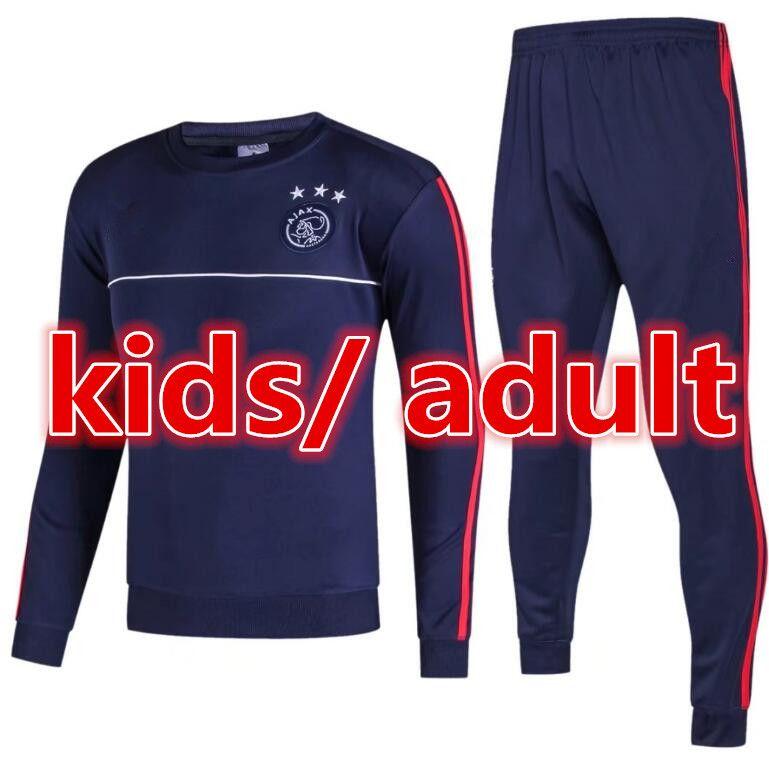 2017 Adults And Kids Ajax Survetement Football Tracksuits 2018 KLAASSEN  MILIK Long Pants Wear Ajax Kids Training Suit Jacket Kit Cheap Adults Kids  Best ...