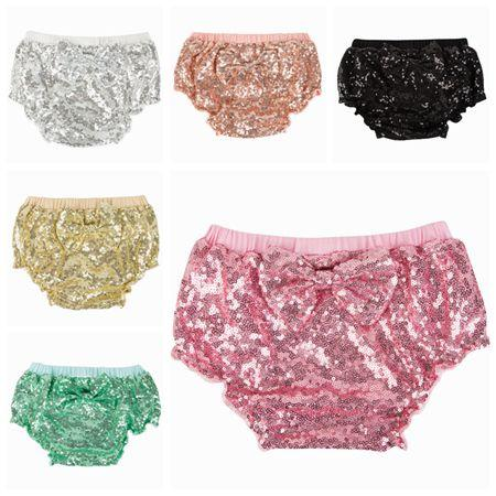 4634b5447 Sequin Baby Bloomers Baby Bows Shorts Girls Gold Summer Short Pants ...