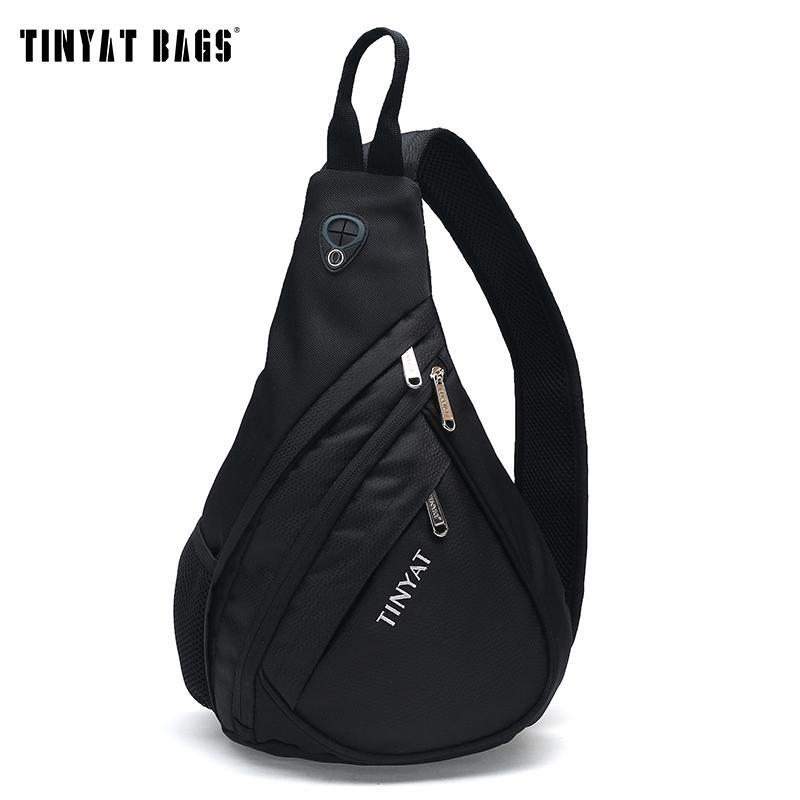 abb59a7d78a1 Wholesale TINYAT Men Functional Multilayer Bag Cool Casual Chest Bag Pack  Morden Outside Large Capacity Messenger Bag Pack T509 Black Handbag Sale  Handbag ...