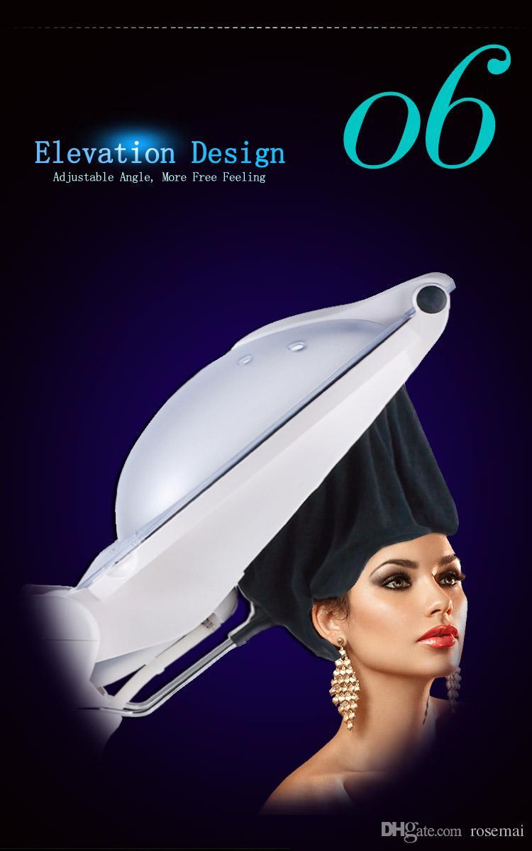 O3 모자 뜨거운 기름 모자 전기 히터 모자 영양 헤어 케어 천 머리카락 증기선 스카프 머리 증기선 밴드