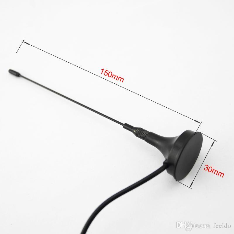 FEELDO Auto F Antena activa con amplificador incorporado para TV digital Antena de TV para automóvil # 918