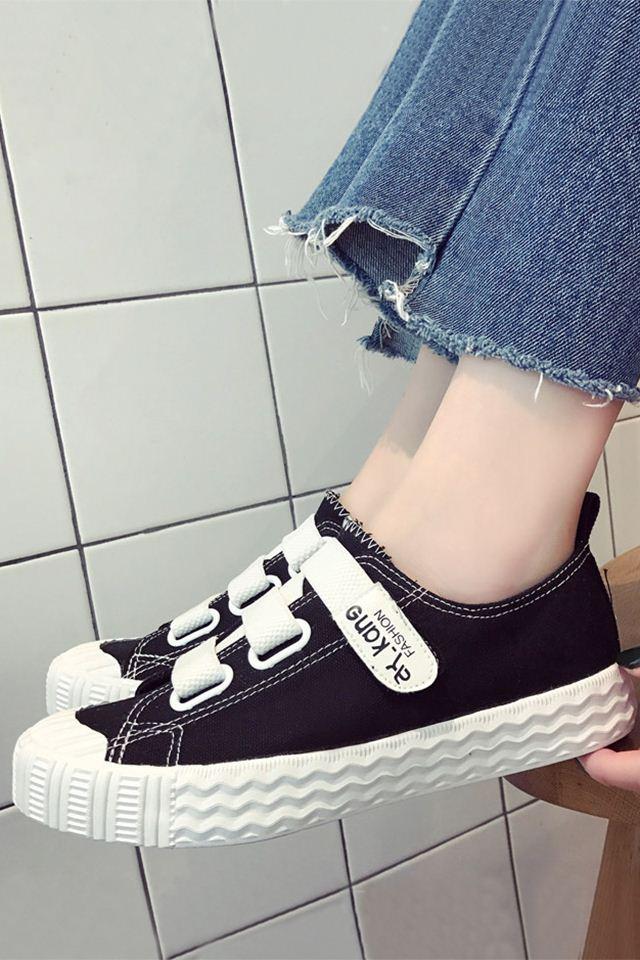 2a6826c5d Compre Uma Mágica Varinha Deslizamento Sapatos De Lona Feminino Feminino  Verão Verão Todo Fósforo Moda Mulheres Sapatos. Com Caixa De A242329548, ...