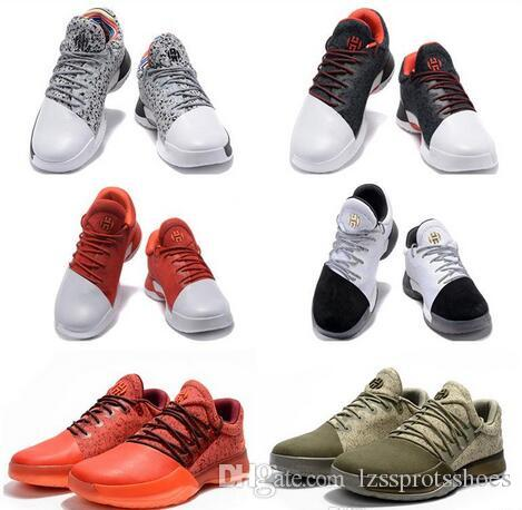 099923bda4e New Harden Vol. 1 Mens Basketball Shoes Black White Orange Wholesale  Fashion James Harden Shoes Sneakers Size 40-46 with Box James Harden Shoes  Harden Vol 1 ...