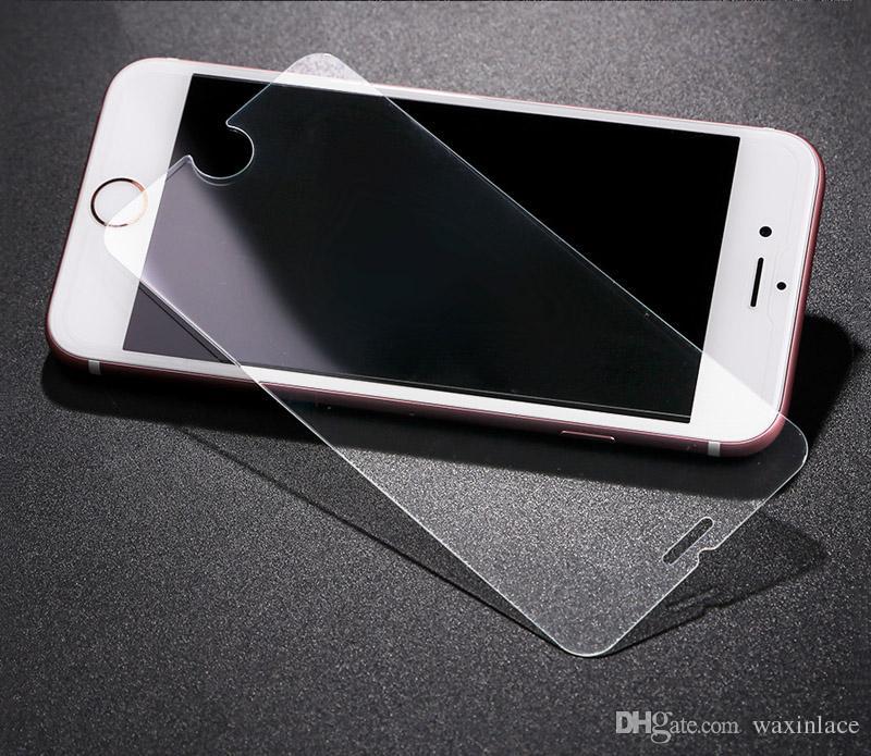 واقي شاشة صلب مقاوم للكسر بحماية زجاجية لهواتف ايفون 7 بلس / 6S / 6S بلس / 5 5S SE 0.3MM - شفاف